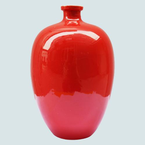喷釉乳白陶瓷酒瓶