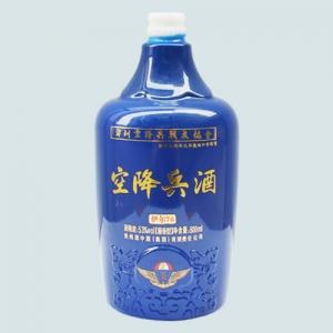 喷釉烤花乳白玻璃酒瓶