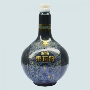 烤花玻璃酒瓶