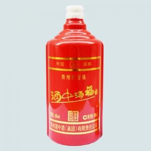 山东烤花乳白玻璃酒瓶